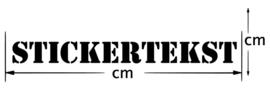 Ontwerp je eigen Tekststicker!