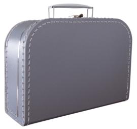 Koffertje karton 25cm Zilver