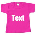 Baby shirt Roze met tekst naar keuze