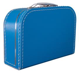 Koffertje karton 25cm Royal Blue