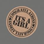 Cadeau-etiket It's a Girl set 25 stuks