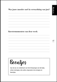 9 maanden boek - zwangerschapsboek (zwart-wit) licht beschadigd