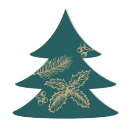 Kerstboom | groen/goud