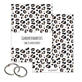 Geboortekaarten bundel | leopard ecru