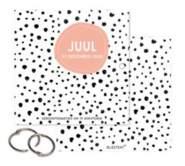 Geboortekaarten | luxe  XL bundel | dots | diverse kleuren