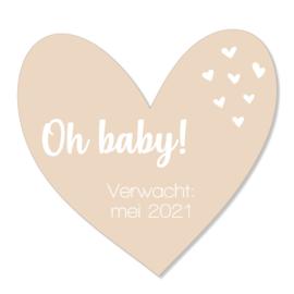 Zwangerschapsaankondiging | oh baby | zand
