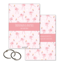 Tekeningen- en knutselbundel | flamingo