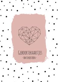 Geboortekaarten bundel | roze