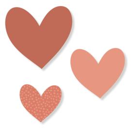 Set harten | terra roze