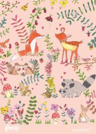 XXL bewaarbundel   tekeningen- en knutsels   bos roze   A3 formaat