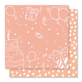 Aftelkalender   verjaardag & vakantie   roze