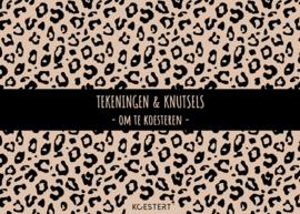 XXL tekeningen- en knutselbundel | leopard zwart | A3 formaat