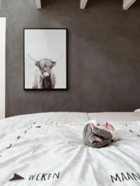 Mijlpaaldeken | leopard ecru | kroon