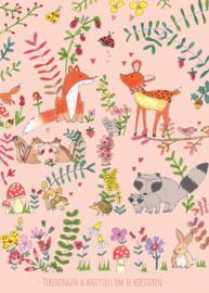 XXL tekeningen- en knutselbundel | bos roze | A3 formaat