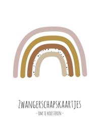 Zwangerschapskaarten bundel - roze regenboog
