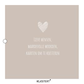 Geboortekaarten XL bundel   grijs   hart