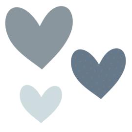 Set harten | blauw