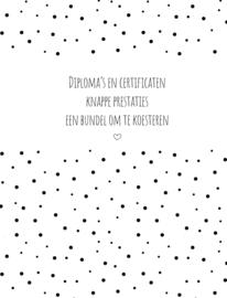 Diploma   bewaarbundel   zwart-wit