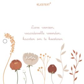 Geboortekaarten | luxe  XL bundel | floral