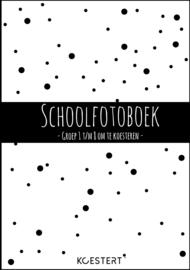 Schoolfotoboek -  groep 1 t/m 8 (zwart-wit)