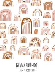 Neutrale bundel | bewaarbundel | regenbogen roze/roest