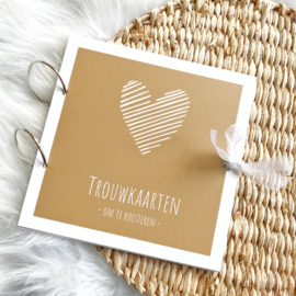 Trouwkaartenbundel | hart | goud / oker