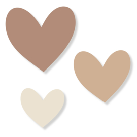 Set harten | bruin