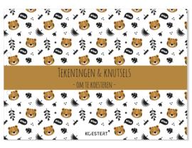 XXL tekeningen- en knutselbundel | tijger | A3 formaat