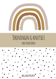 Tekeningen- en knutselbundel | regenboog roze