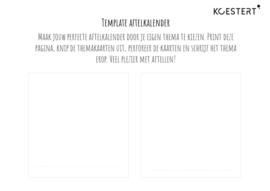 Free printable - thema's voor de aftelkalender