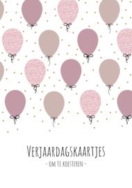 GRATIS   verjaardagskaarten bundel   roze