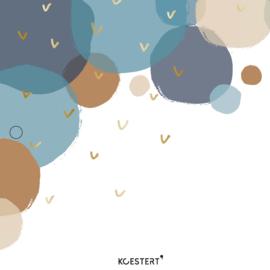 Geboortekaarten XL bundel | blauw | bollen