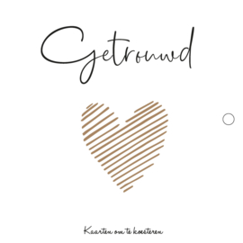 Trouwkaartenbundel | zwart-wit | gouden hart