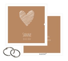 Geboortekaarten XL bundel | goud/oker | hart