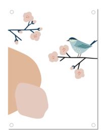 Tuinposter | flower bird