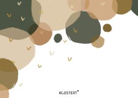 XXL tekeningen- en knutselbundel | bubbels groen | A3 formaat