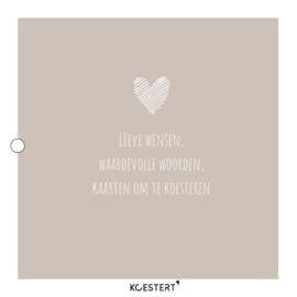 Trouwkaartenbundel | hart | grijs