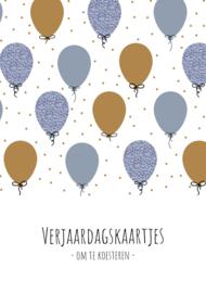 GRATIS | Verjaardagskaarten bundel | blauw