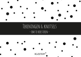 XXL tekeningen- en knutselbundel | zwart-wit | A3 formaat