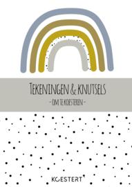 Tekeningen- en knutselbundel - regenboog blauw