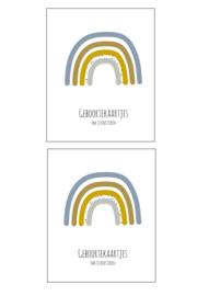 Geboortekaarten pakket - 2 stuks (BLAUW)