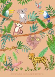 XXL tekeningen- en knutselbundel   jungle bruin   A3 formaat