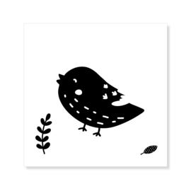 Tegeltje | vogeltje | zwart-wit
