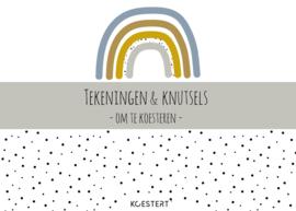 XXL bewaarbundel | tekeningen en knutsels | blauw | A3 formaat