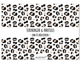 XXL tekeningen- en knutselbundel | leopard ecru | A3 formaat