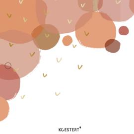 Geboortekaarten XL bundel | roze | bollen