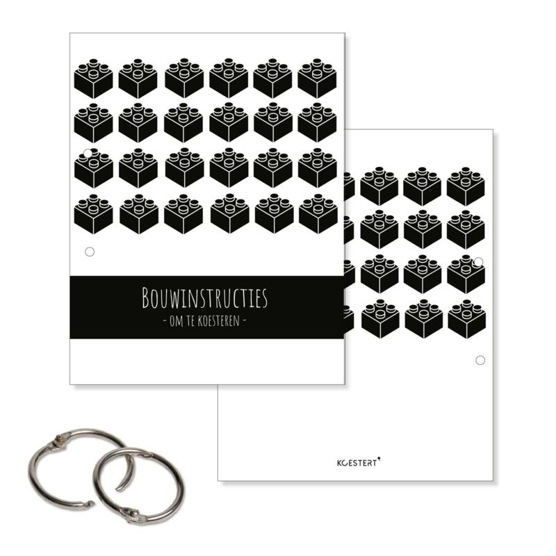Bewaarbundel voor Lego & bouwinstructies | XL | zwart