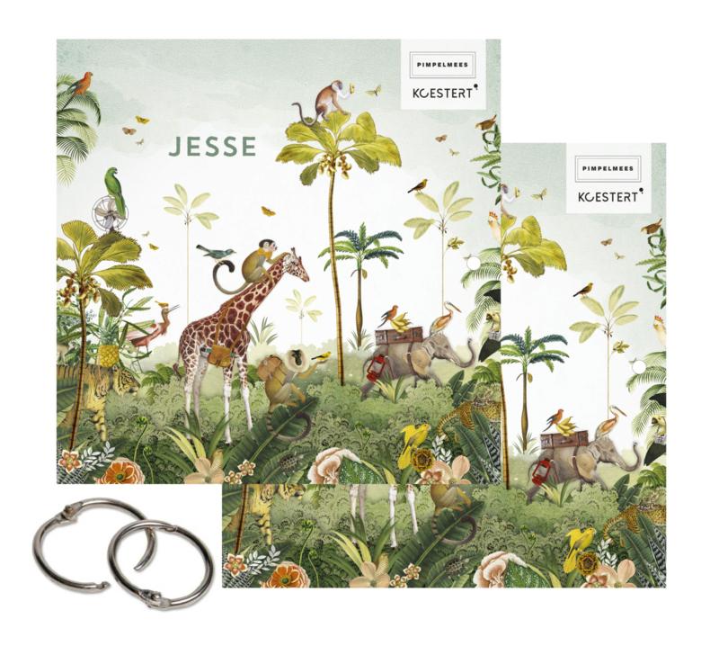 (Geboorte)kaarten XL bundel | Koestert x Pimpelmees | jungle parade