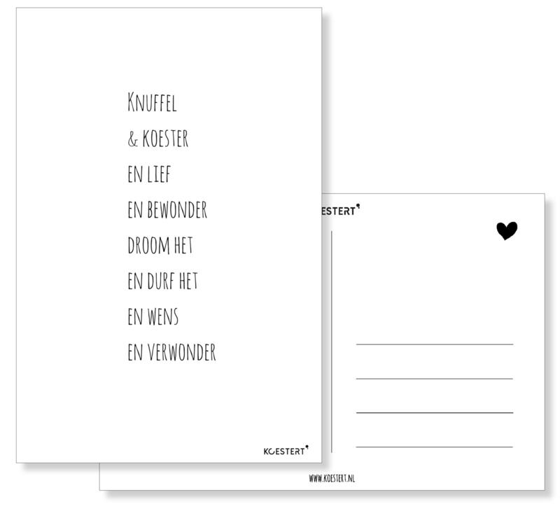 Knuffel & koester - kaart