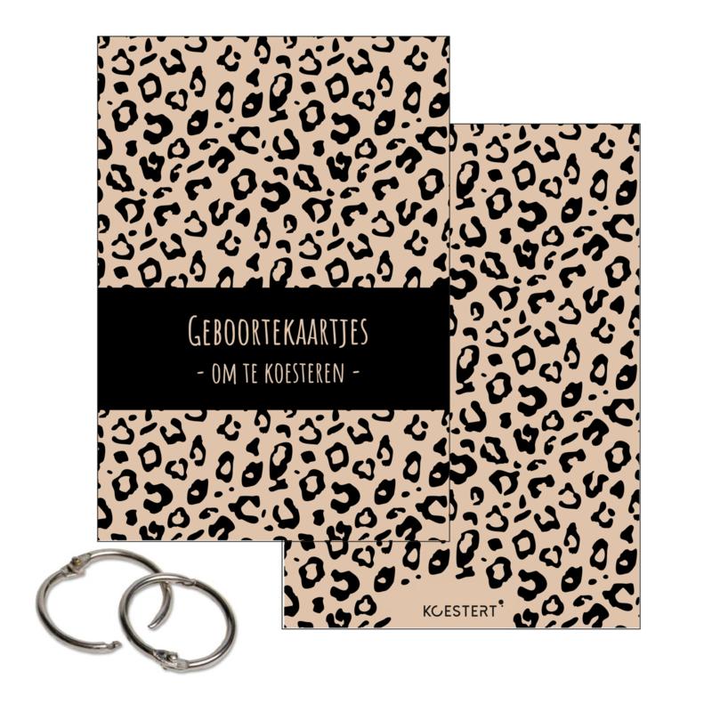 Geboortekaarten bundel | leopard zwart